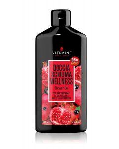 Гель для душа Гранат и Черная Смородина Велнесс «Vitamine», на экстрактах из фруктовых соков 400мл.