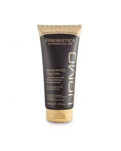 Шампунь-гель для волос и тела мужской с экстрактом Гинко Билоба и Пантенолом 200мл